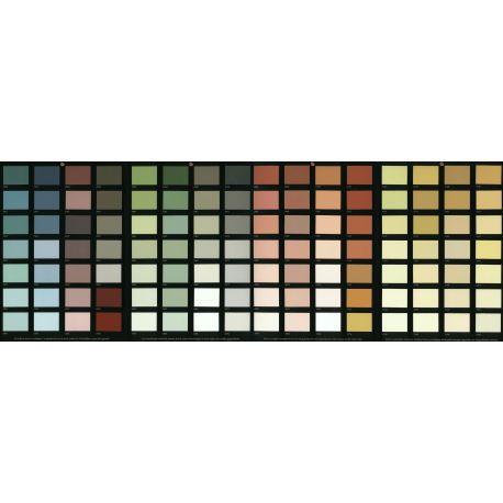 Représentation des différents coloris