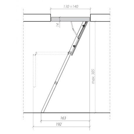 Plan de l'escalier ISO Boi