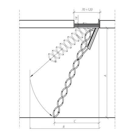 Escalier ISO Acier échelle accordéon LSF