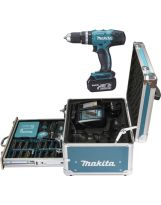 MAKITA - Visseuse-perceuse a percussion 18V 42Nm + acc supl en coffret 2x BL1830 + 1x DC18RC