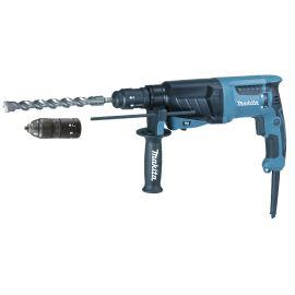 MAKITA - Marteau perforateur-burineur SDS-PLUS 800W 26mm en coffret + set de meches et burins + mandrin automatique