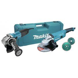 MAKITA - Combopack meuleuses GA9020RF (2200W - 230mm) + GA5040RZ (1100W - 125mm) + 2 x Diamak DS en coffret