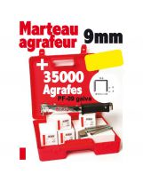 Alsafix - 1 marteau agrafer RPF 9 + 35 000 agrafes PF-09 galva (7 boîtes)